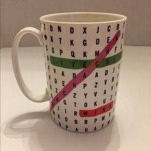 kate spade x Lenox Say The Word Crossword Mug